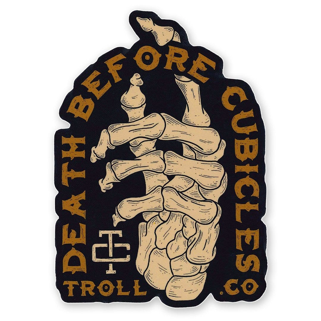 Death Before Cubicles Sticker
