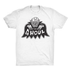 BAT GHOUL T-SHIRT - White, Apparel, The Ghoul, Justin Ishmael - Justin Ishmael