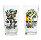 GHOUL + MOON GOON PINT GLASSES: SET OF 2