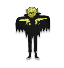 TALL GHOUL GLOW ENAMEL PIN, Other, The Ghoul, Justin Ishmael - Justin Ishmael