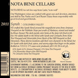 2011 Syrah : Columbia Valley