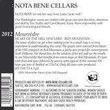 2012 Mourvèdre - Heart of the Hill Vineyard : Red Mountain