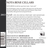 2013 Syrah – Ciel Du Cheval Vineyard : Red Mountain