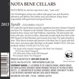 2013 Syrah : Columbia Valley