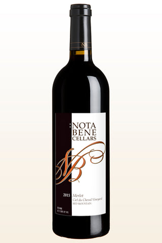 2015 :Nota Bene Merlot – Ciel du Cheval Vineyard :  Red Mountain