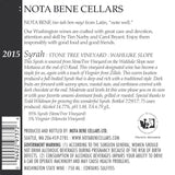 2015 Syrah – Stone Tree Vineyard : Wahluke Slope