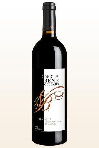 2016 :Nota Bene Merlot – Ciel du Cheval Vineyard:  Red Mountain