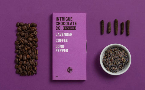 Intrigue Chocolate - Lavender, Coffee, Long Pepper Bar