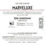 2016 MCM Wine Co. Marveluxe Chardonnay – Yakima Valley