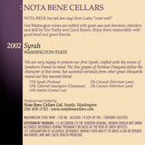 2002 Syrah : Washington State