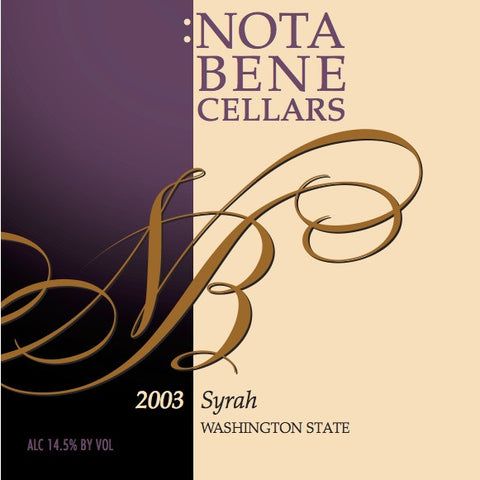 2003 Syrah : Washington State