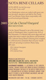 2005 Ciel du Cheval Vineyard : Red Mountain