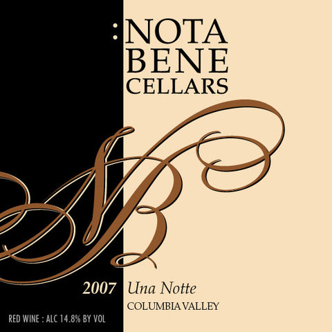 2007 Una Notte : Columbia Valley