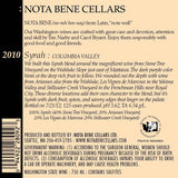 2010 Syrah : Columbia Valley