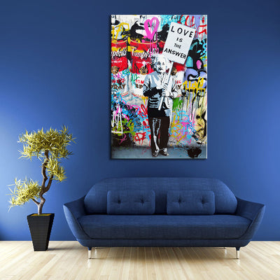 LOVE IS THE ANSWER WALL CANVAS