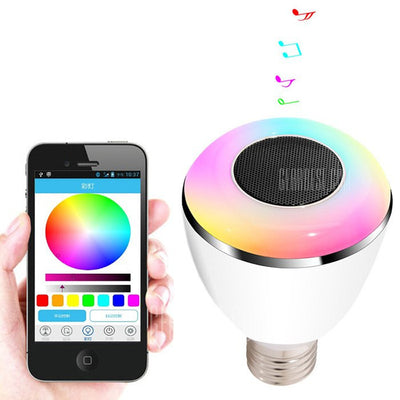 Smart Bluetooth 4.0 Music Speaker LED Bulb - WHITE