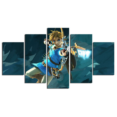 5 Pieces Wall Canvas Set - The Legend Of Zelda