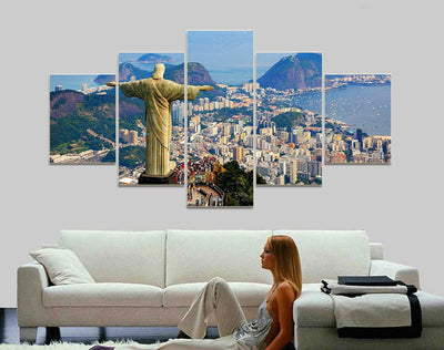 5 Pcs JESUS WALL CANVAS