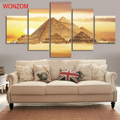 5 Pcs HD PYRAMID WALL CANVAS
