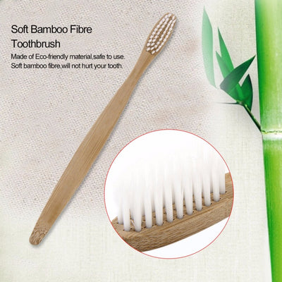 ECO FRIENDLY SOFT BAMBOO TOOTHBRUSH ( PACK OF 3 )