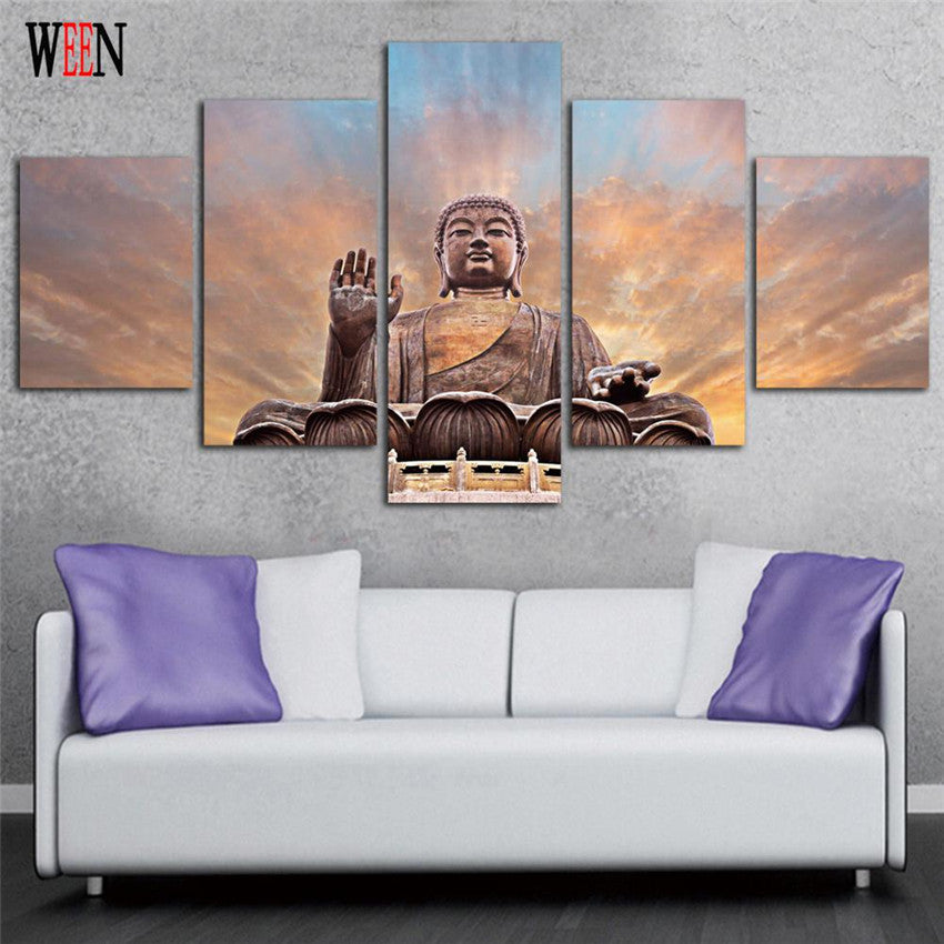 fabulous pcs buddha zen wall canvas with poster mural zen with grand poster mural with poster. Black Bedroom Furniture Sets. Home Design Ideas