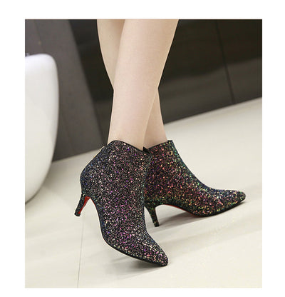 Rhinestone Ankle Boots for Women