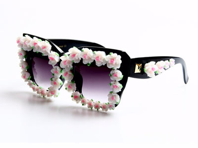 Rhinestone Flower Baroque Sunglasses