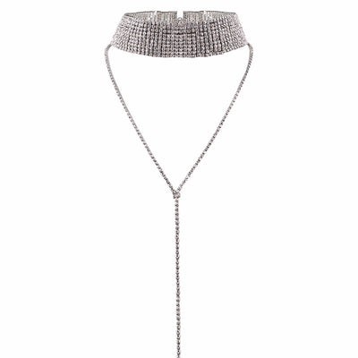 Rhinestone New Choker Necklace