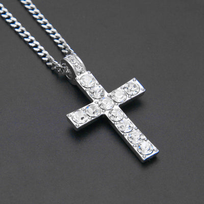 Rhinestone Crucifix Necklace
