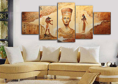5 Pcs HD EGYPTIAN WALL CANVAS