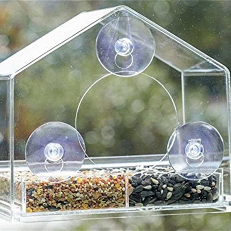 Birds Clear Window Feeder Www Gobazzola Com
