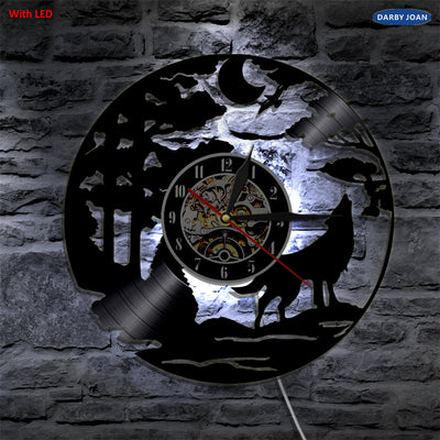 LED WOLF Wall Clock