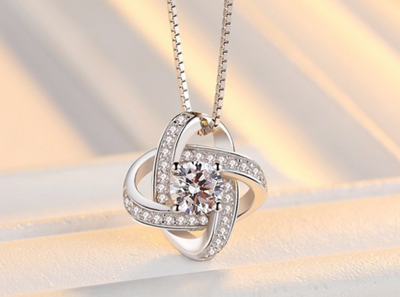 925 Silver Necklace With Swarovski Elements