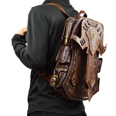 Vintage Steampunk Backpack - PU Leather