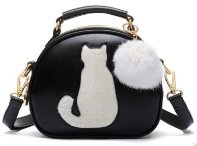 """Best Seller"" - New Trendy Cat Print Shoulder Bag- PU Leather"