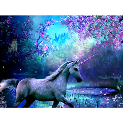 5d DIY Rhinestone Embroidery Unicorn Painting