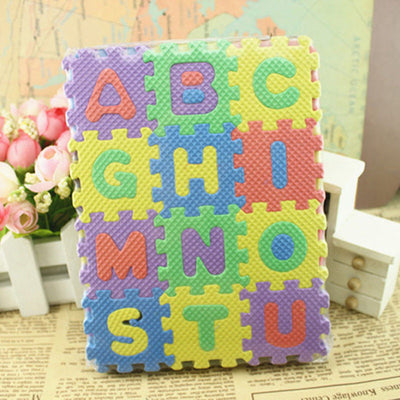 THIRTY SIX pcs Alphanumeric Educational Puzzle