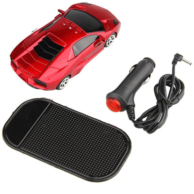 360° Car Radar Laser Detector Voice Alert GPS - Red