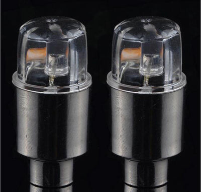 Neon LED Flash Wheel Valve Cap Light