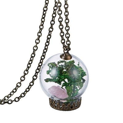 Handmade Sea Grasses Wishing Bottle Necklace