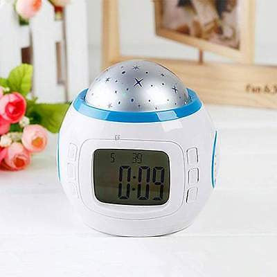 LED Projection Digital Alarm Clock Thermometer Calendar