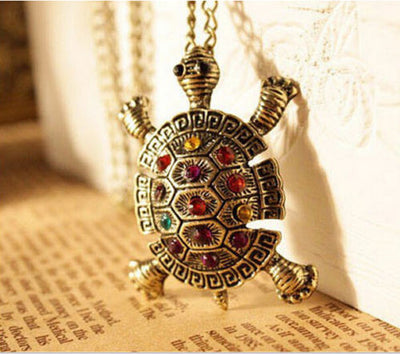 Bohemia Crystal Turtle Necklace