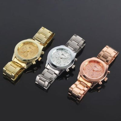 Geneva Ladies Stainless Steel Quartz Wrist Watch