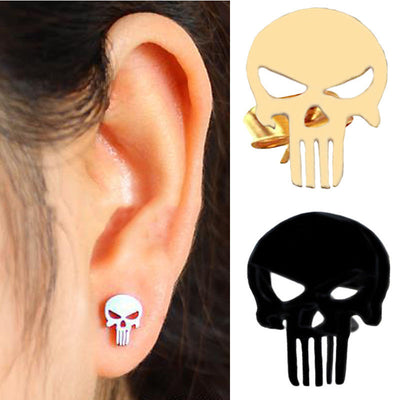 Stainless Steel Punisher Skull Earrings (BUY 1 GET 2 FREE!)