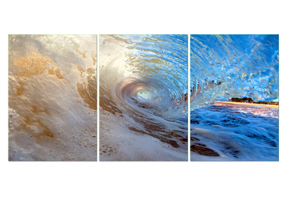 3 Pcs WAVE RIDE WALL CANVAS
