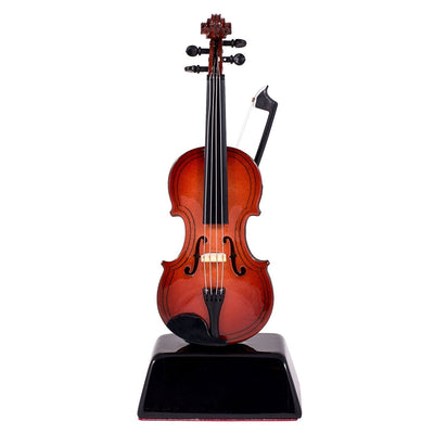 Handcrafted Violin Music Instrument Miniature Replica with Case