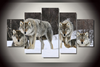 5 PIECES WOLF PACK PAINTING