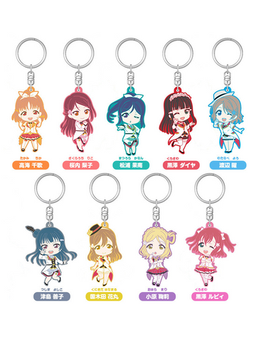 Love Live! Sunshine!! Nendoroid Plus Mirai Ticket Ver. Rubber Strap Trading Figures
