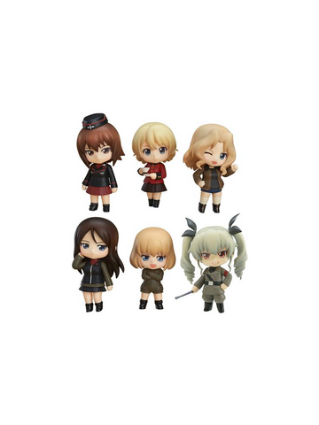 GIRLS und PANZER Other High Schools Ver. Nendoroid Petite Trading Figures