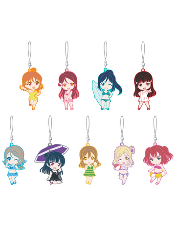 Love Live! Sunshine!! Rubber Straps Swimsuit Ver. Trading Figures